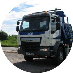 SCB Skip Hire truck